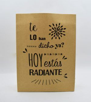 Bolsa Kraft de golosinas - Hoy estás radiante