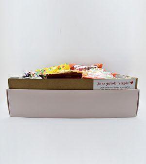 Caja de chocolates grande rosa