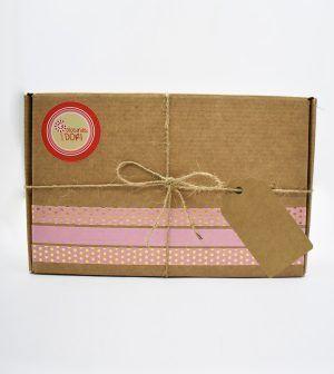 Caja Kraft de chocolate - rosa