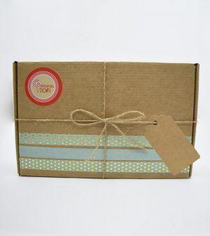 Caja Kraft de chocolate - verde