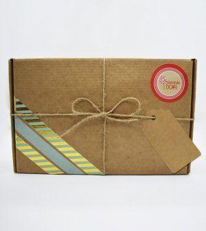 Caja Kraft de frutos secos - verde