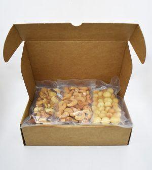 Caja Kraft de frutos secos - rosa