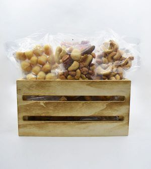 Caja de madera de frutos secos