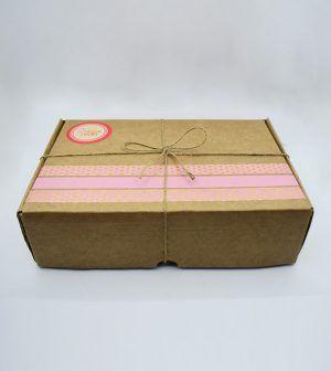 Caja Kraft de frutos secos tostados - rosa