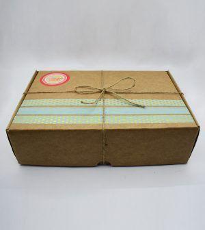 Caja Kraft de frutos secos tostados - verde